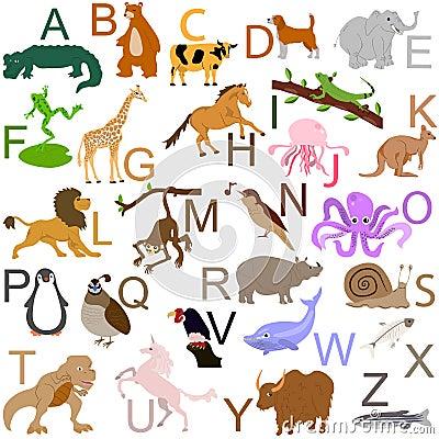Free Animal Alphabet Stock Photo - 17971850
