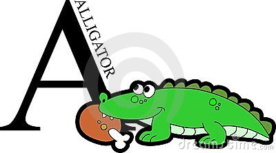 Animal Alphabet Alligator