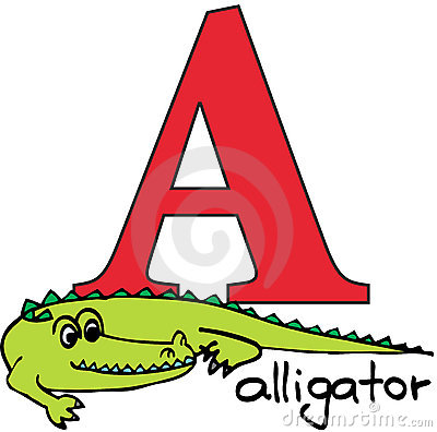 Animal alphabet A (alligator)