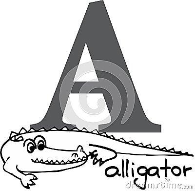 Animal alphabet A (alligator)