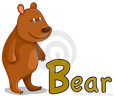 animal alphabet B for bear