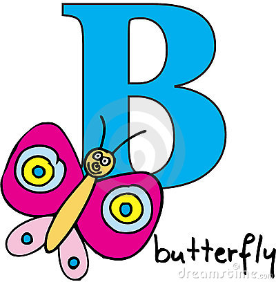 Animal alphabet B (butterfly)
