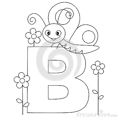 Free Animal Alphabet B Coloring Page Royalty Free Stock Images - 9998999