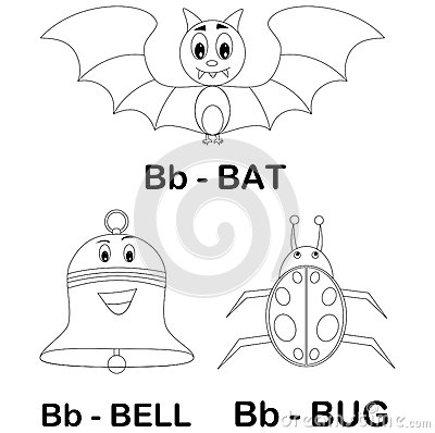 Animal alphabet B coloring page