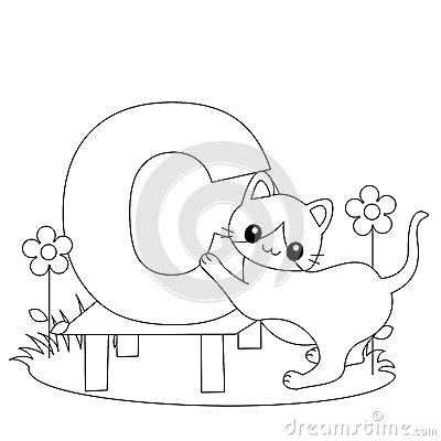 Free Animal Alphabet C Coloring Page Royalty Free Stock Images - 9999019