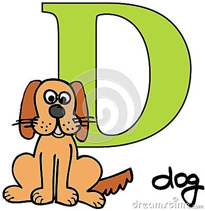 Animal alphabet D (dog)