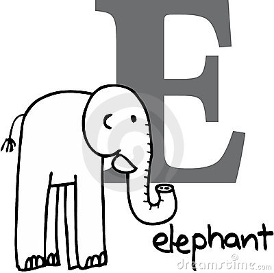 Animal alphabet E (elephant)