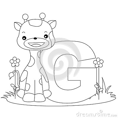 Free Animal Alphabet G Coloring Page Stock Photos - 9999133