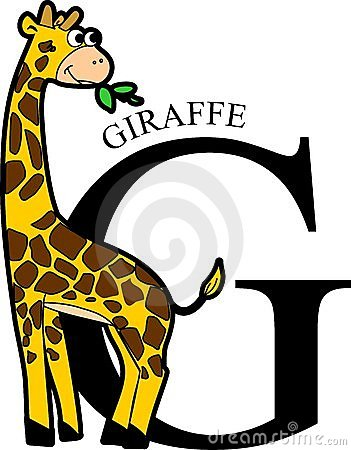Animal Alphabet Giraffe