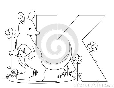 Animal Alphabet K Coloring page