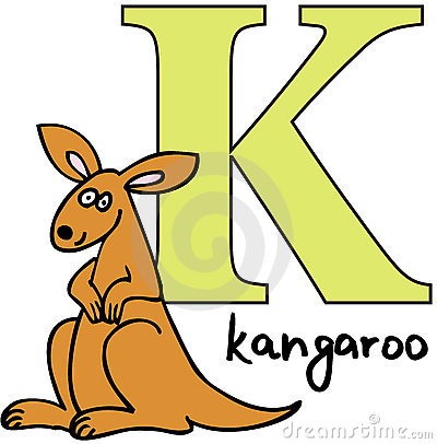 Animal alphabet K (kangaroo)