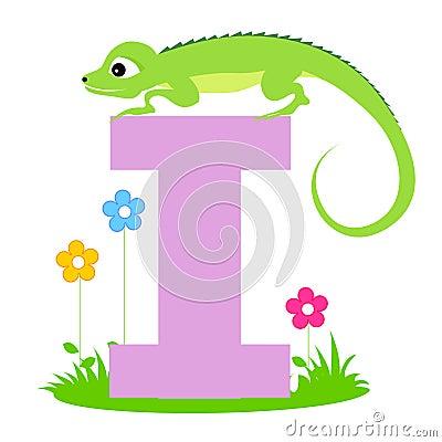 Animal alphabet letter I