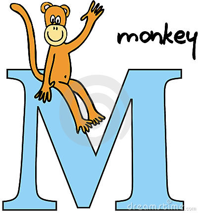Animal alphabet M (monkey)