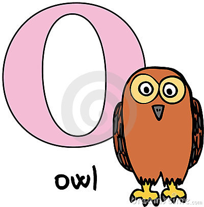 Animal alphabet O (owl)