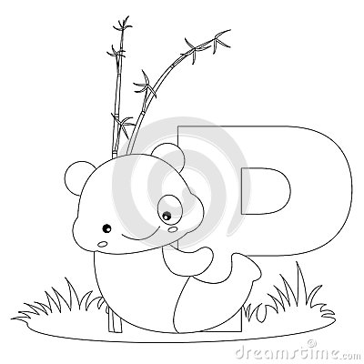 Free Animal Alphabet P Coloring Page Royalty Free Stock Photography - 9999327