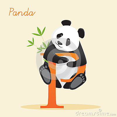 Animal alphabet with panda