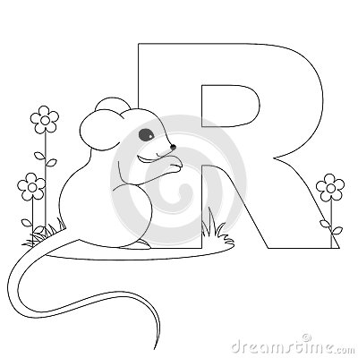 Animal Alphabet R Coloring page