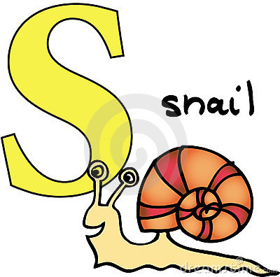 Animal alphabet S (snail)