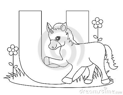 Letter U Colouring Sheets Animal Alphabet Coloring Page Stock Photos Image 9999443