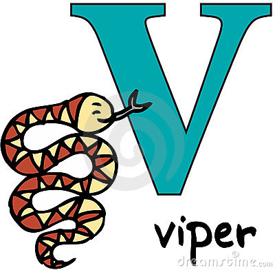 Animal alphabet V (viper)