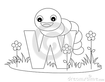 Animal Alphabet W Coloring page