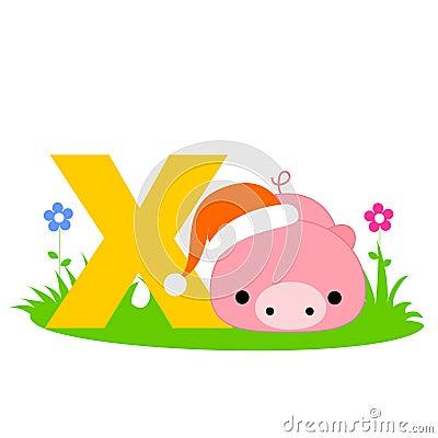 Animal alphabet X
