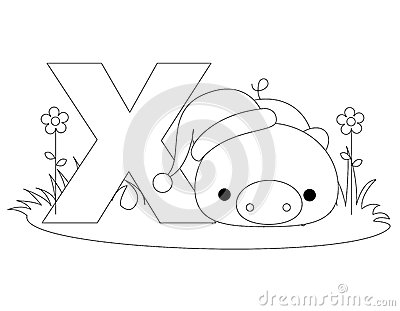 Animal Alphabet X Coloring page