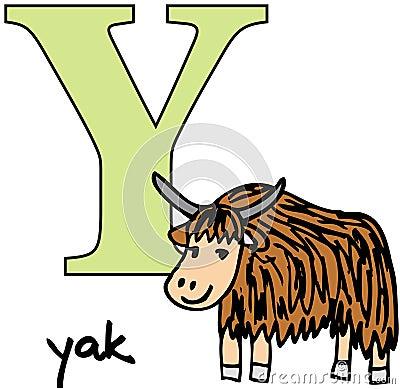 Animal alphabet Y (yak)
