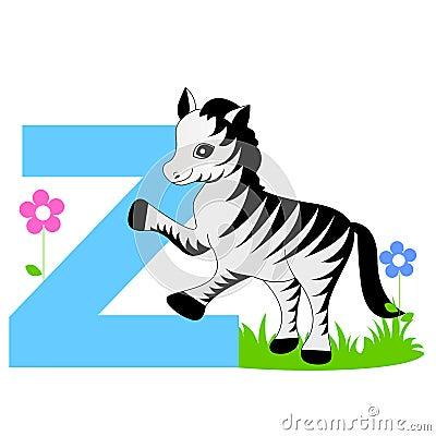 Free Animal Alphabet Z Royalty Free Stock Image - 8439956