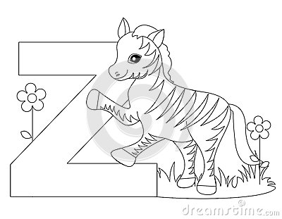 Animal Alphabet Z Coloring page