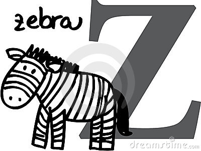 Animal alphabet Z (zebra)