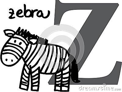 Animal alphabet Z (zebra)