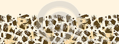 Animal brush stroke horizontal seamless pattern