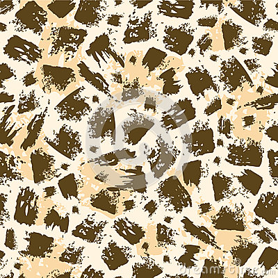 Animal brush stroke seamless pattern background
