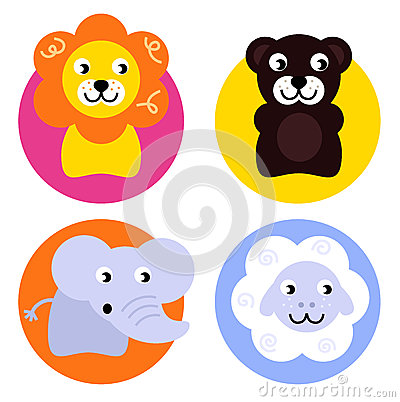 Animal buttons set