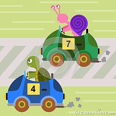 Animal car race