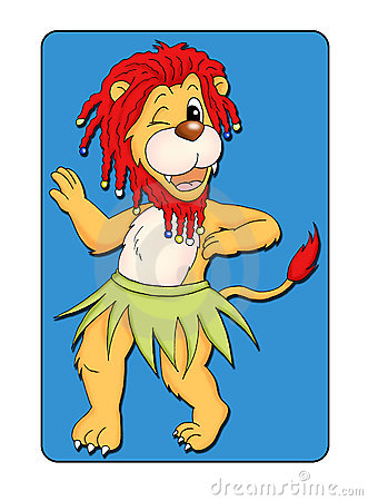 Animal card 1 - lion