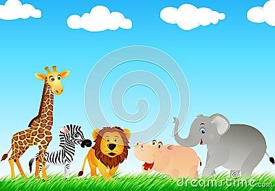 Animal cartton in the wild