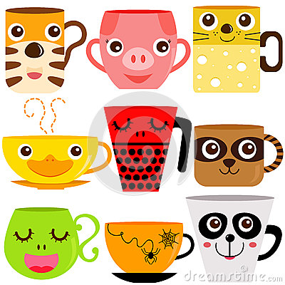 Free Animal Coffee Mugs / Cups Stock Photography - 28982882