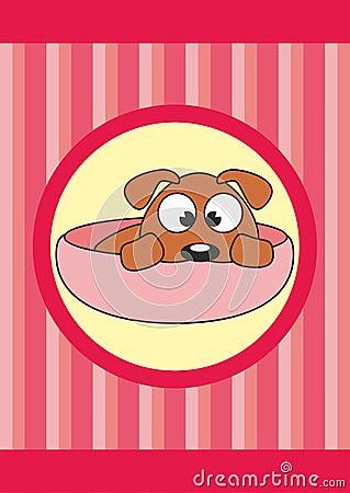 Animal doméstico de la historieta en la taza - perro del bebé