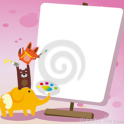 Animal drawing board