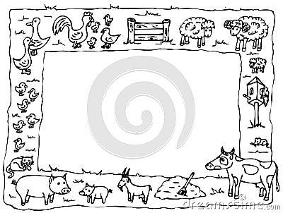 Farm yard frame cartoon - Forum des messages