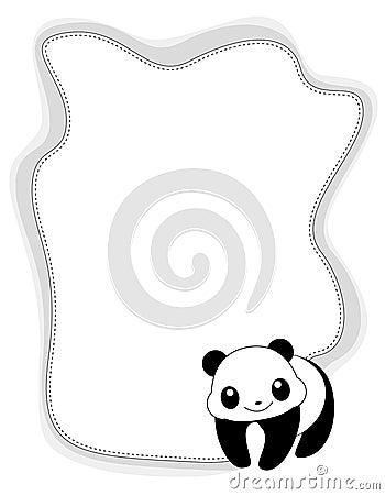 Animal frame panda
