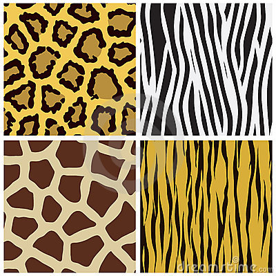 Animal fur seamless pattern