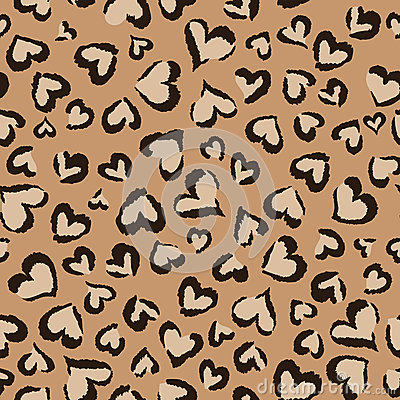 Animal hearts ~ seamless background