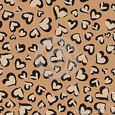 Animal hearts ~ seamless background