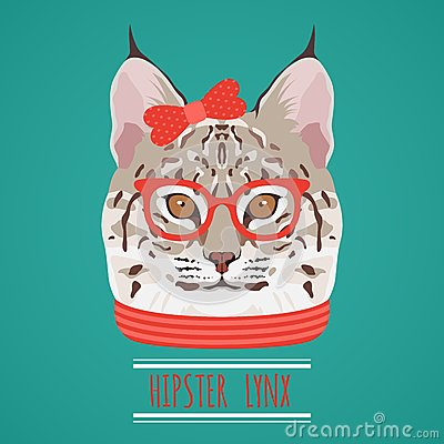 Free Animal Hipster Portrait Royalty Free Stock Image - 46131596