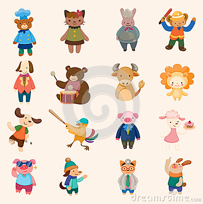 Free Animal Icon Set Royalty Free Stock Image - 27596556