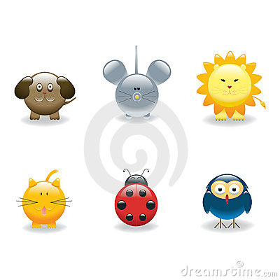 Free Animal Icons 3 Royalty Free Stock Photography - 5917977