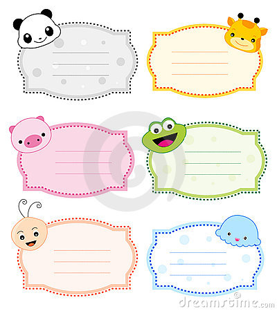 animal label frame stock images image 19136474